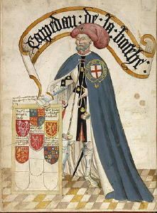 Sir Jean de Grailly, Book of the Knights of the Garter